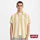 Levis 男款 短袖條紋襯杉 / 南歐風鵝黃條紋設計 product thumbnail 1
