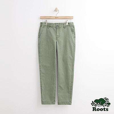 Roots -女裝- 斜紋休閒棉褲 - 綠