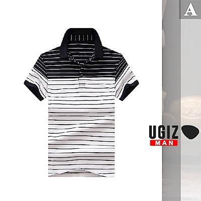 [時時樂]UGIZ-型男百搭配色條紋POLO衫-3款任選(M-3XL)