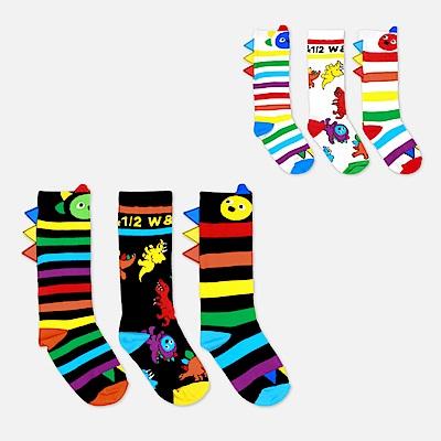 WHY AND 1/2 三件組恐龍造型長筒襪 多色可選