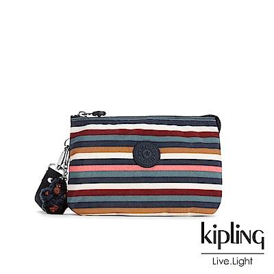 Kipling繽紛仲夏條紋三夾層配件包(大)-CREATIVITY XL