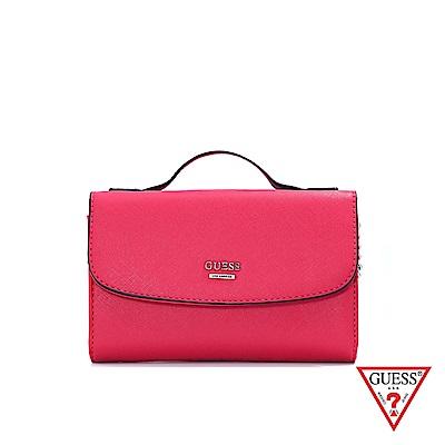 GUESS-女包-簡約LOGO時尚斜背包-紅 原價2290