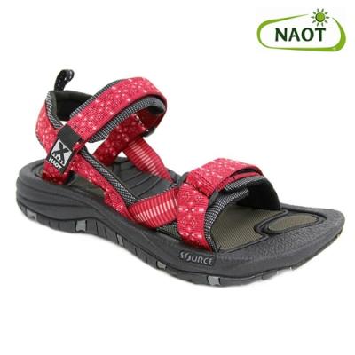 NAOT 女 越野運動涼鞋 HARBOR 38506X41 紅圖騰