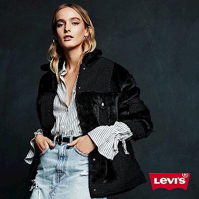 Levis 女款 鋪棉外套 絨毛拼接 寬鬆版型