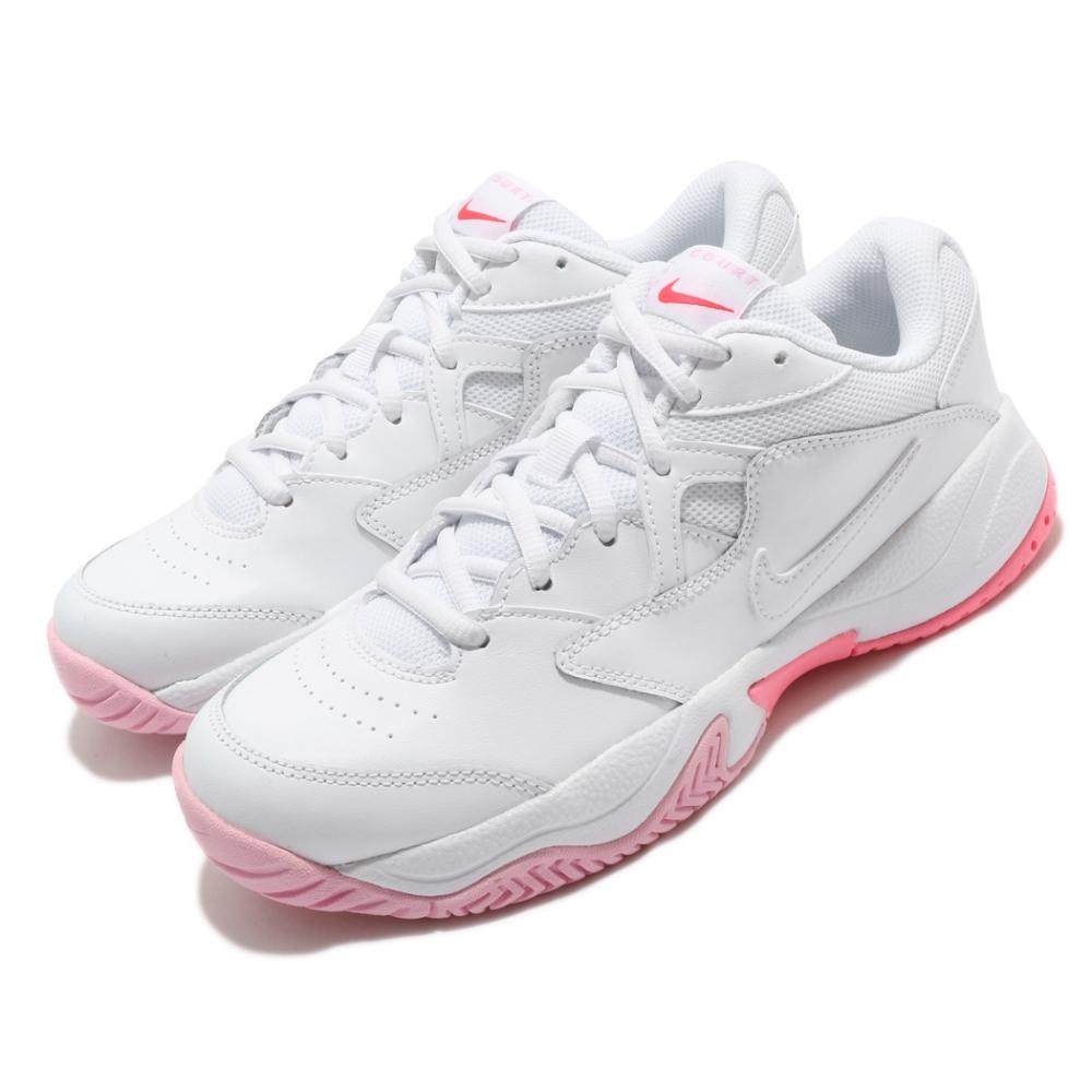 Nike 網球鞋 Court Lite 2 運動 女鞋 避震 支撐 包覆 球鞋 穿搭 白 粉 AR8838106