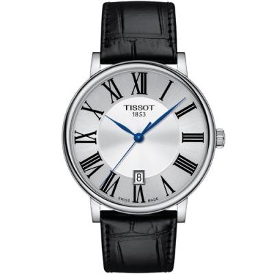 TISSOT天梭 CARSON PREMIUM經典時尚手錶(T1224101603300)