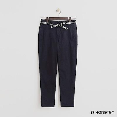 Hang Ten - 女裝 - 腰帶設計修身長褲 - 藍