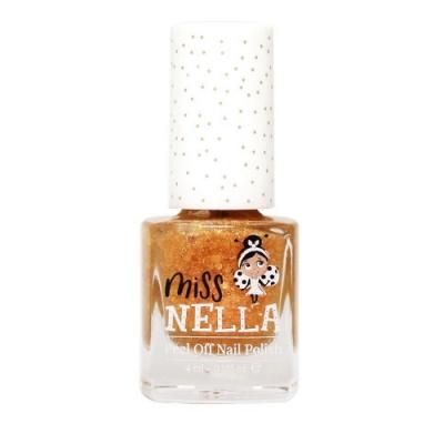 英國【Miss Nella】兒童水性可撕式安全指甲油 - 閃閃焦糖橙橘 MN30
