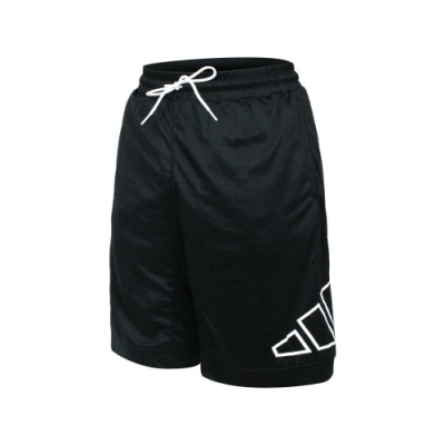 ADIDAS 男運動短褲-針織 吸濕排汗 五分褲 慢跑 路跑 愛迪達 GT3018 黑白