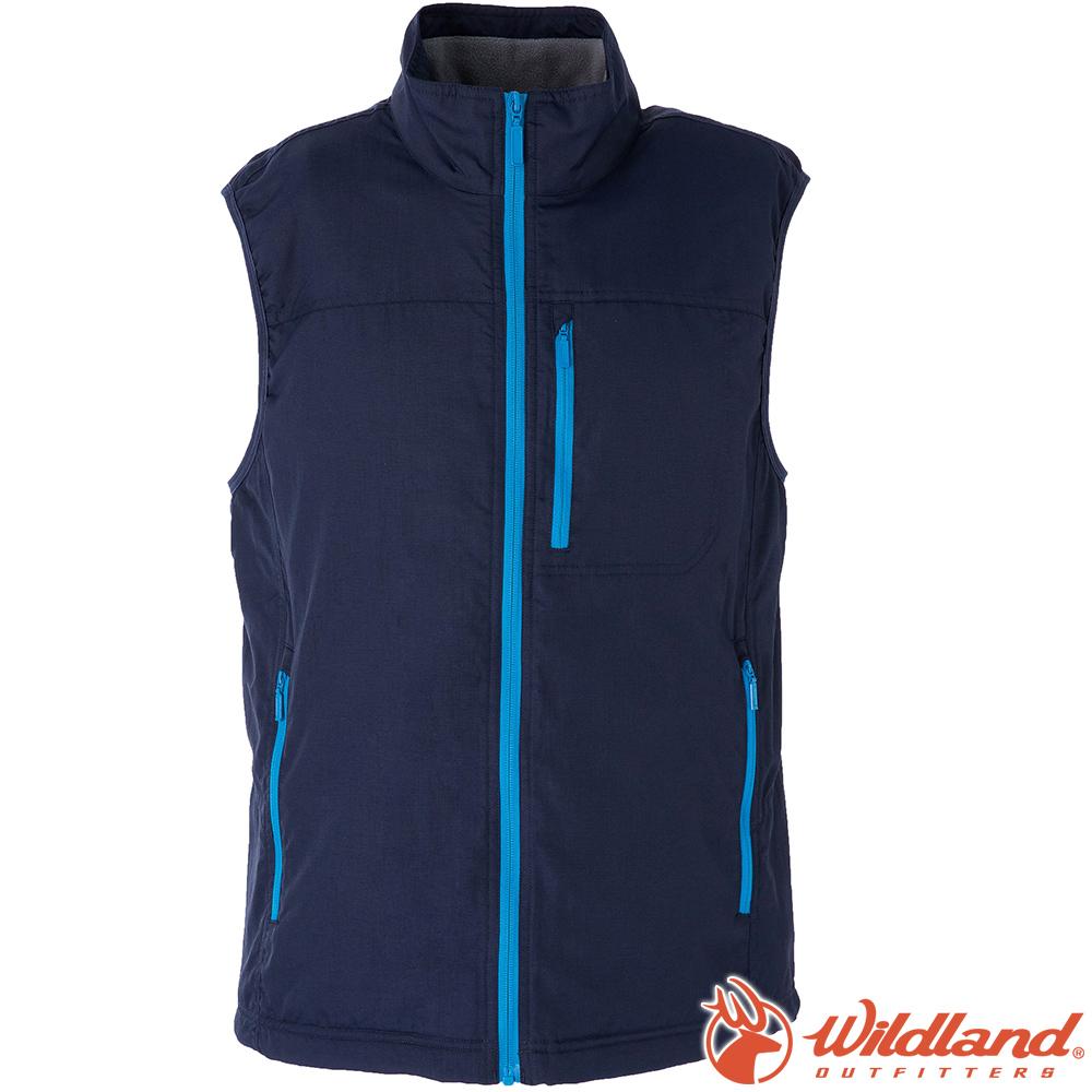 Wildland荒野 W2708-72深藍 男防潑水防風保暖背心(大尺碼)