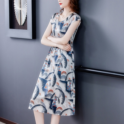 【KISSDIAMOND】氣質顯瘦女神雪紡洋裝(1色M-3XL/KDD-8802)