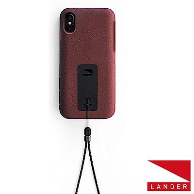 美國 Lander iPhone Xs / X Moab 防摔手機保護殼 - 紅(附手繩)