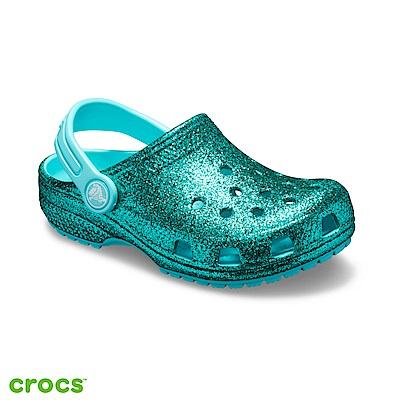 Crocs 卡駱馳 (童鞋) 金蔥設計小克駱格-205441-40M