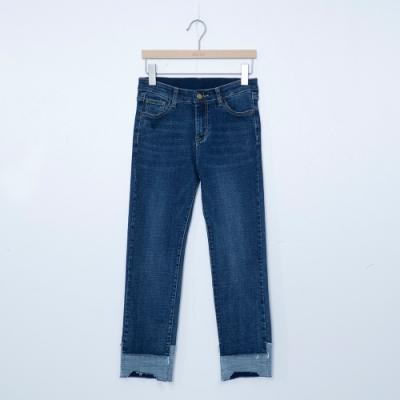 beartwo-經典刷色牛仔褲-深藍