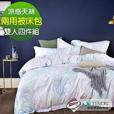 Ania Casa 擁抱自然 涼感天絲 採用3M吸溼排汗專利 雙人鋪棉兩用被床包組