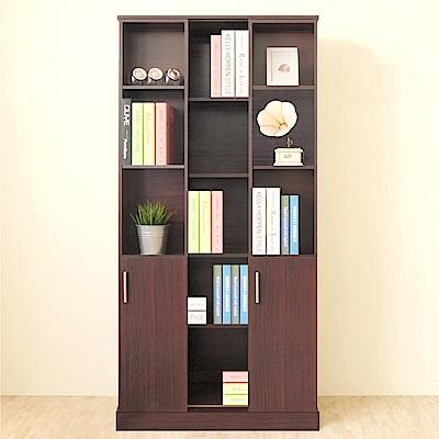 《HOPMA》DIY巧收雙排活動書櫃-寬80 x深40 x高170cm