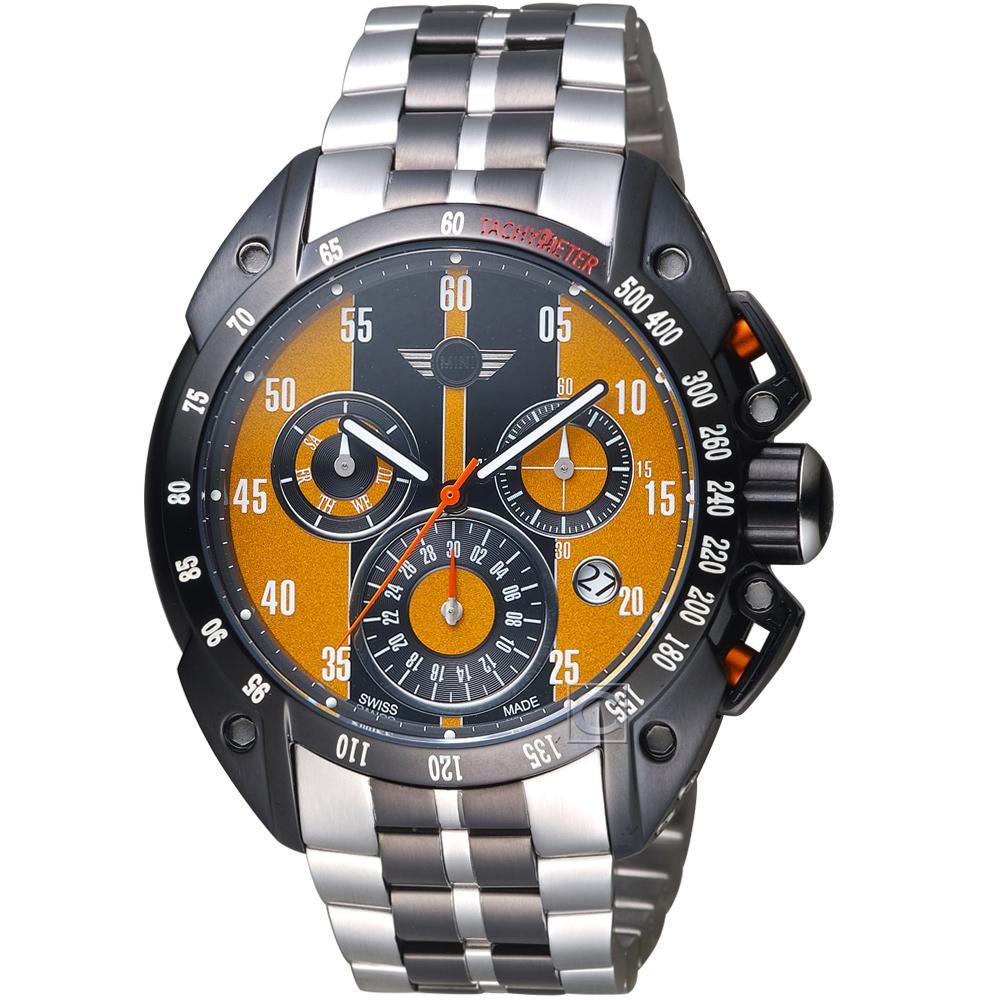 MINI Swiss Watches經典設計時尚腕錶(MINI-160121)-黃x鋼帶