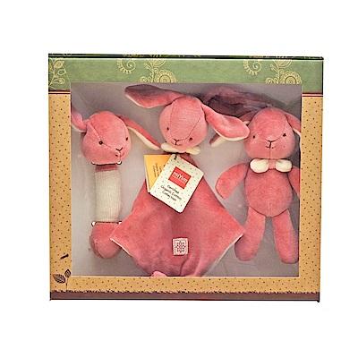 美國miYim有機棉 安撫玩具禮盒(經典3件組)-邦妮兔兔