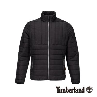 Timberland 男款黑色立領修身保暖外套 A21D2