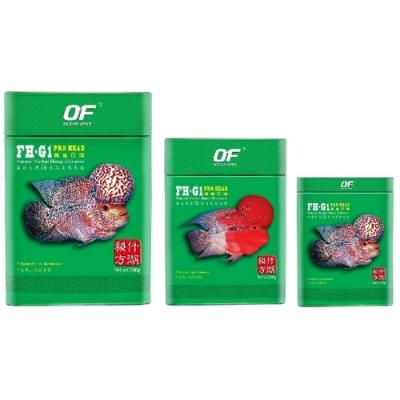 新加坡OF仟湖 - FH-G1 專業羅漢魚飼料250g 迷你顆粒/中顆粒