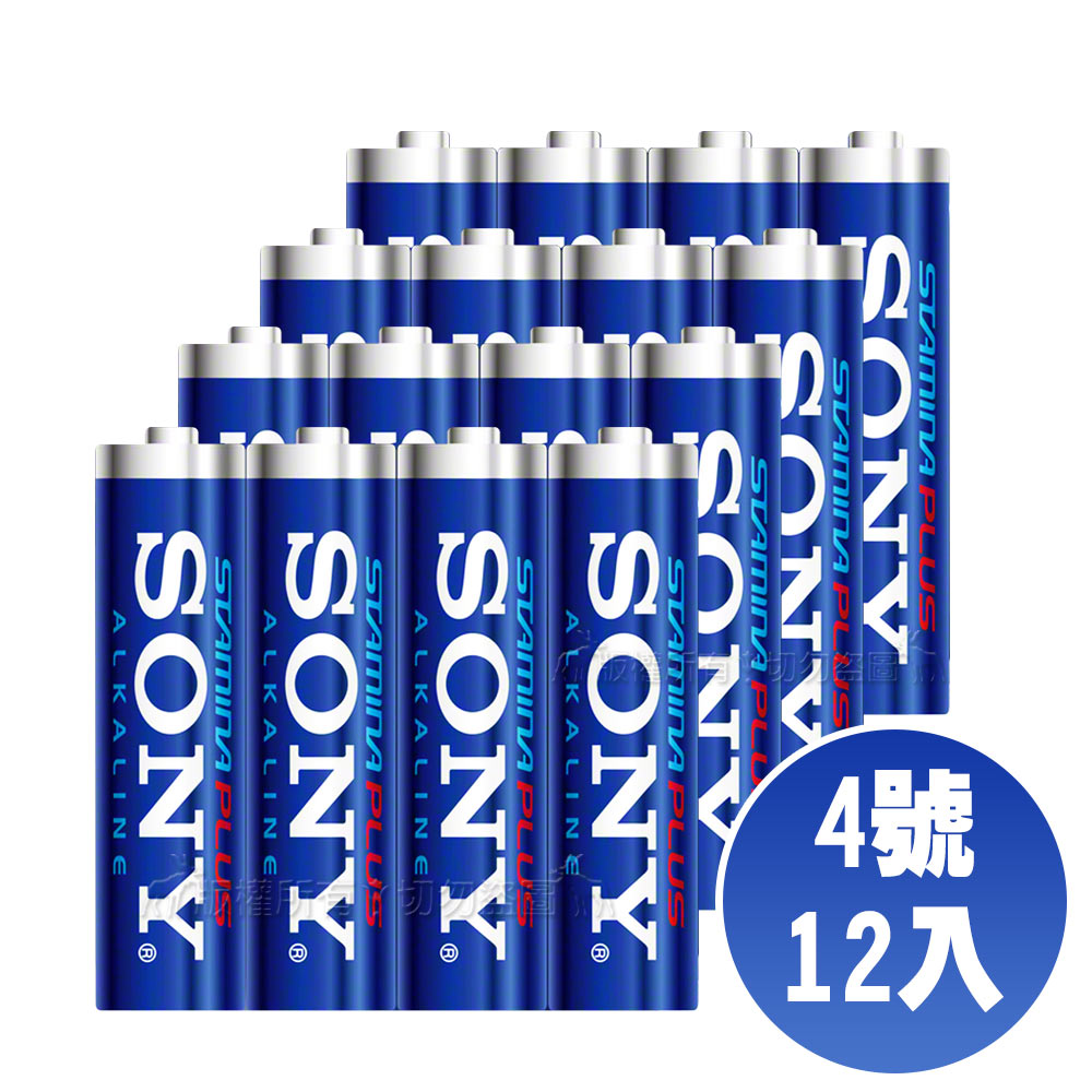 SONY 4號高效能鹼性電池-12顆入