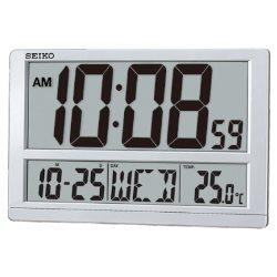 SEIKO 日本精工 座掛兩用 數位式電子掛鐘(QHL080S)38.5x25cm