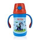 Nuby不鏽鋼真空學習杯(細吸管)-領航犬_280ml(12M+)