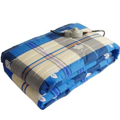 台灣製造多色格紋單人電毯ED191-2