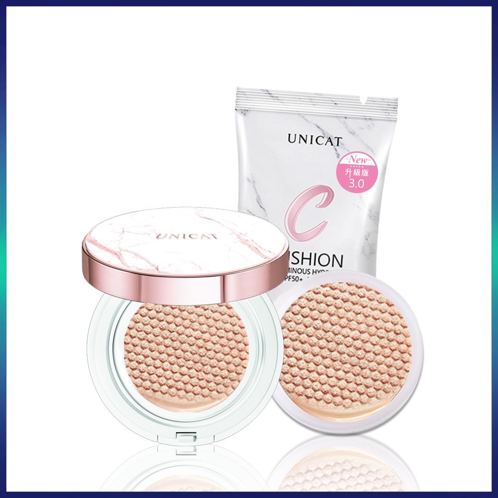 UNICAT變臉貓 3.0升級版光透氣墊粉餅+補充包+光彩定妝礦物蜜粉