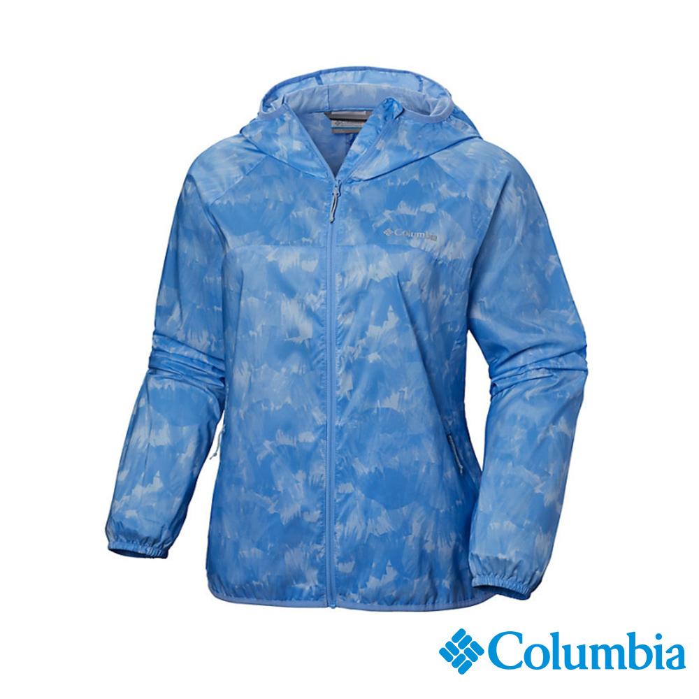 Columbia 哥倫比亞 女款-防潑水彈性外套-藍色 UKR10180BL