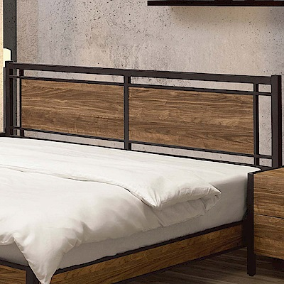 文創集 貝頓時尚6尺木紋雙人加大床頭片(不含床底)-183.8x4.5x96cm免組