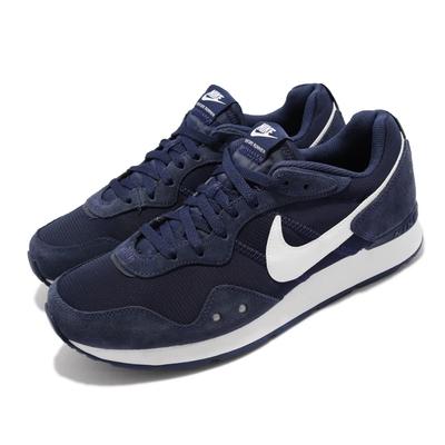 Nike 休閒鞋 Venture Runner 寬楦 男鞋 復古 舒適 麂皮 反光 球鞋 穿搭 深藍 白 DM8453-400