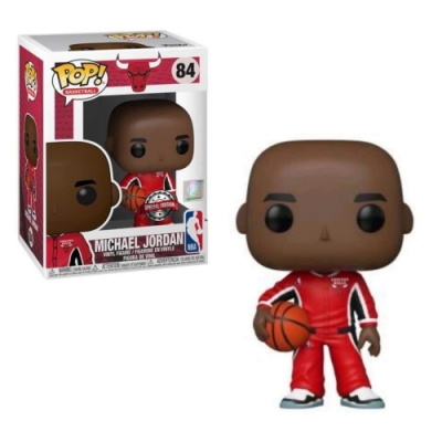 POP NBA 芝加哥公牛 麥可喬丹 紅色熱身服