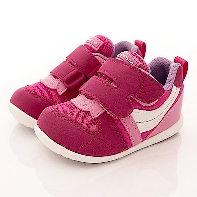 日本月星頂級童鞋 HI系列2E抗菌款 77S2 櫻桃粉(寶寶段)