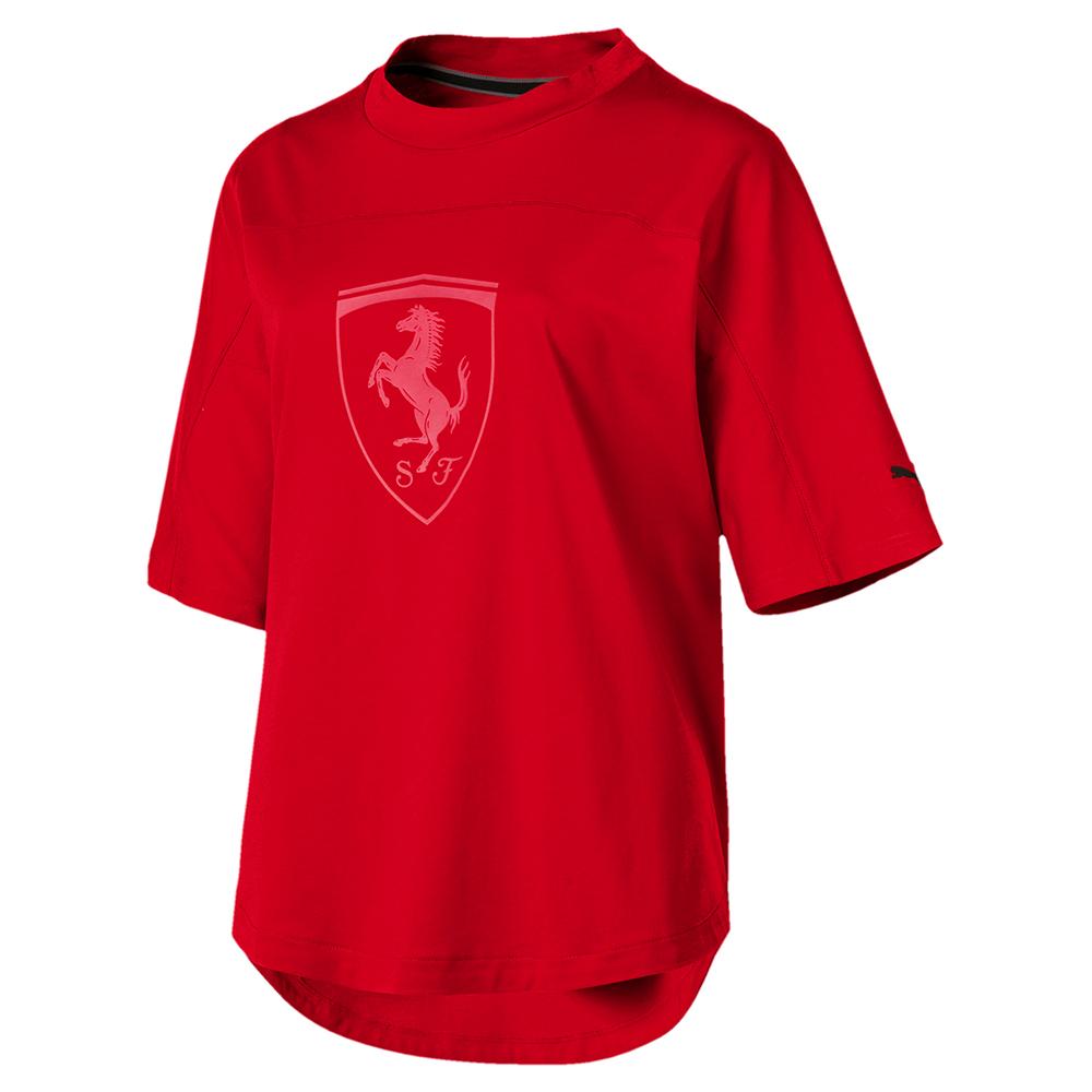 PUMA-女性法拉利經典系列大盾牌短袖T恤-法拉利紅-歐規