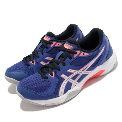Asics 排球鞋 GEL Rocket 10 運動 女鞋 亞瑟士 緩衝 平穩著地 靈活 亞瑟膠 藍 白 1072A056402