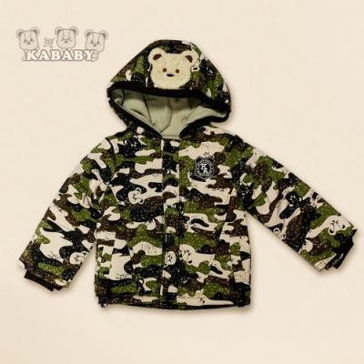 【金安德森】KA迷彩秋冬內刷毛戴帽外套 (綠色)