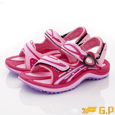 GP時尚涼拖 磁扣兩穿運動涼鞋款 ON617B-45桃紅(中小童段)