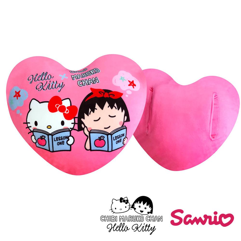 Hello Kitty x 小丸子聯名款 心型午安枕/暖手枕/抱枕
