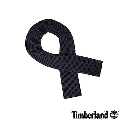 Timberland 男款深藍色網格厚圍巾|A1EFG