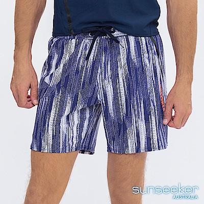 澳洲Sunseeker泳裝男士快乾衝浪泳褲-條紋藍