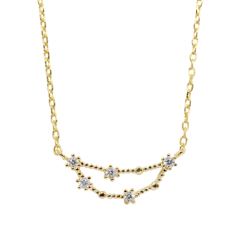 Wanderlust+Co 澳洲時尚品牌 水鑽十二星座系列 摩羯座金色項鍊