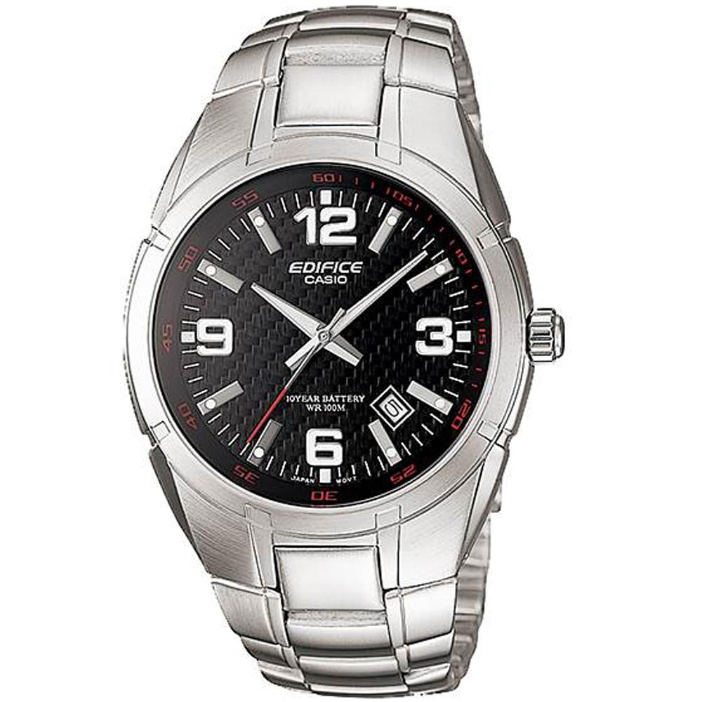 CASIO卡西歐EDIFICE 10年電力腕錶(EF-125D-1A)-黑 @ Y!購物