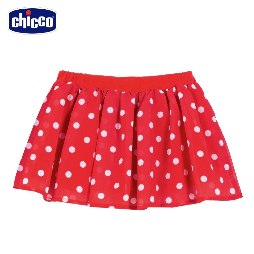 Chicco- 花朵瓢蟲-圓點雪紡紗短裙