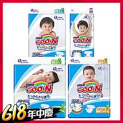 [限量搶購]GOO.N日本大王 日本境內版-黏貼型紙尿褲4包/箱-透氣舒柔(尺寸可選)