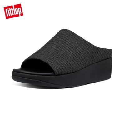 FitFlop IMOGEN BASKET-WEAVE SLIDES一片式涼鞋-女(靚黑色)