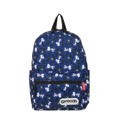 【OUTDOOR】SNOOPY聯名款剪影版後背包-中-深藍色 ODP19D01NY