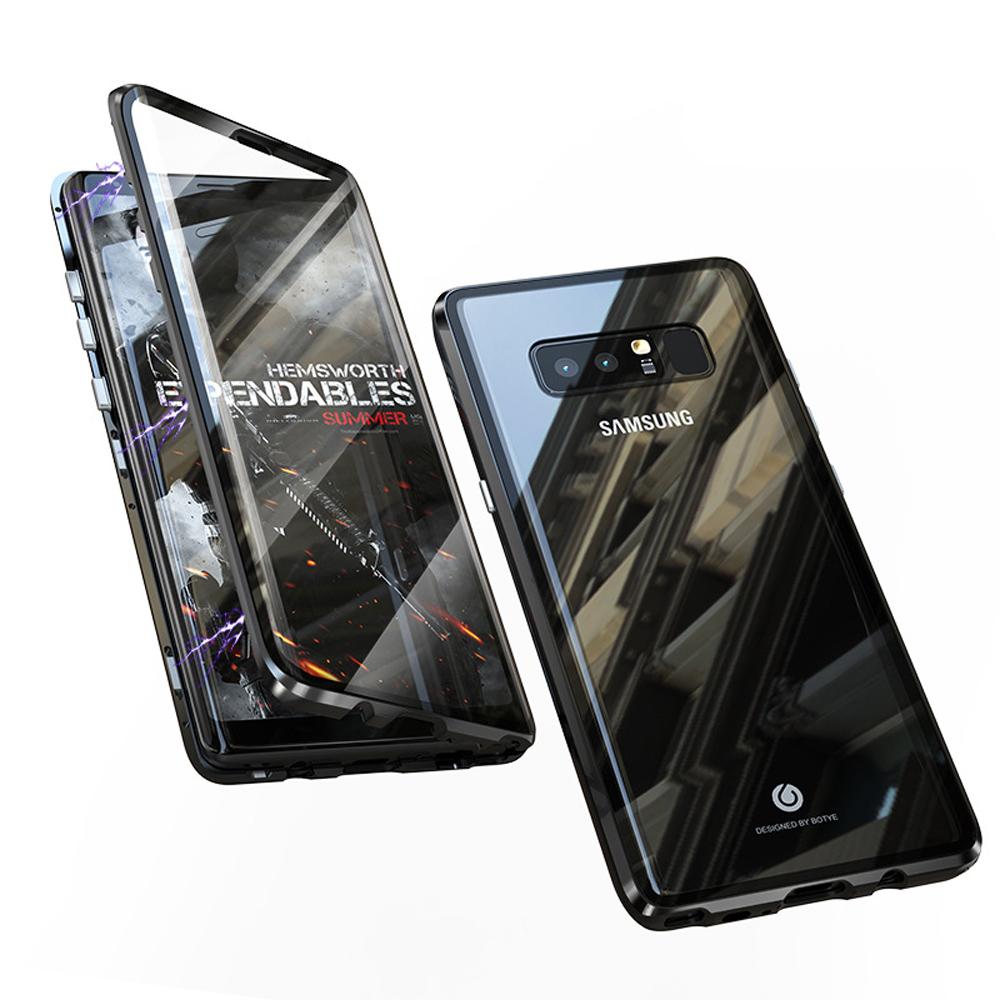 BOTYE萬磁王雙玻璃系列 三星Note 8 航空鋁金雙玻璃保護殼