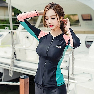 AH-dream夢想女孩-四件式-撞色-衝浪衣泳裝