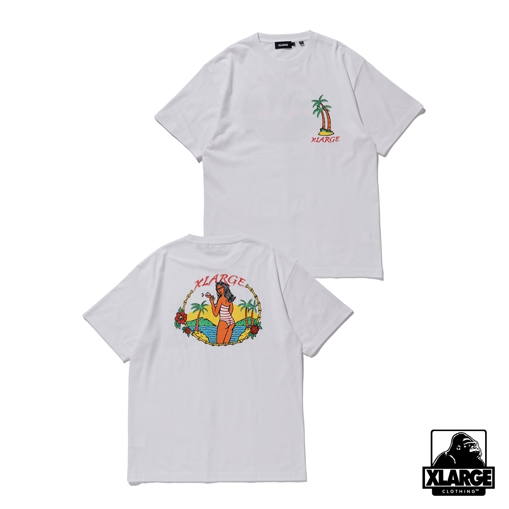 XLARGE S/S TEE PERMANENT VACATION 夏日假期短T-白